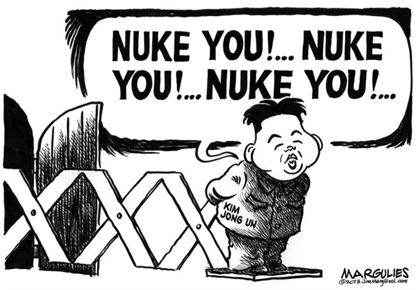Jimmy Margulies - The Record of Hackensack, NJ - North Korea threats  - English - North Korea, North Korea threats, North Korea nukes, Kim Jong un, North Korea nuclear weapons, Korean peninsula
