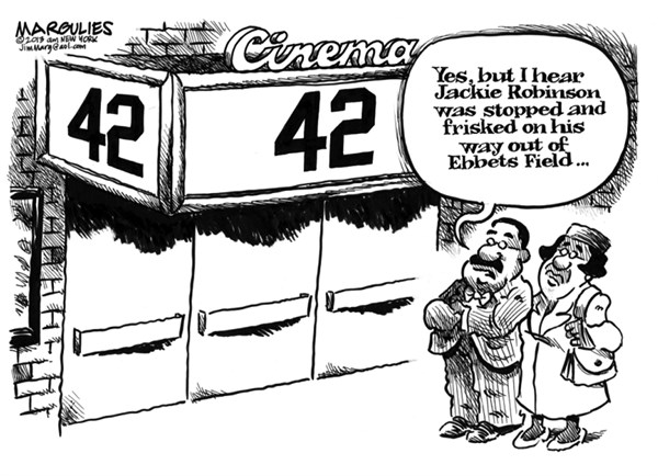Jimmy Margulies - The Record of Hackensack, NJ - Jackie Robinson film 42 - English - Jackie Robinson, integration, baseball, African American history, sports, Brooklyn Dodgers, Ebbets Field