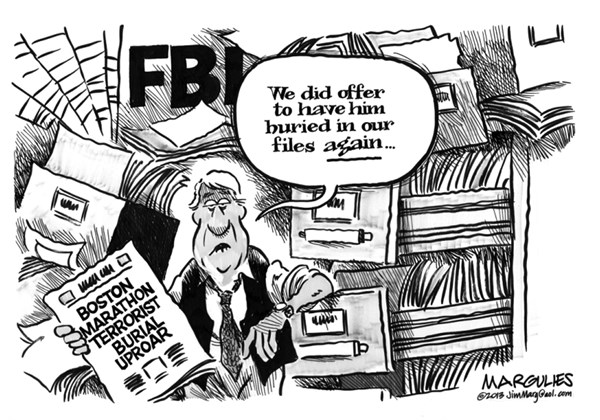 Jimmy Margulies - The Record of Hackensack, NJ - Boston Marathon Terrorist Burial - English - Boston Marathon Terrorist Burial, terrorism, FBI, Tamerlan Tsarnaev, Jihad