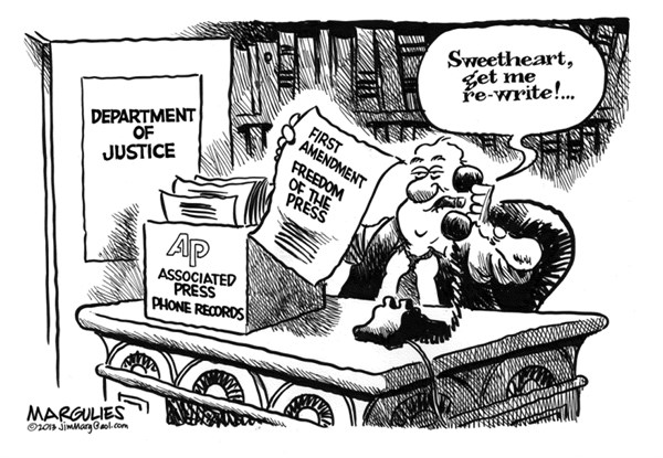 Jimmy Margulies - The Record of Hackensack, NJ - Justice Department AP phone records  - English - Justice Department, Associated Press, AP, Freedom of the Press, First Amendment, Attorney General Holder