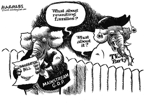 Jimmy Margulies - The Record of Hackensack, NJ - Immigration bill and Republicans - English - Immigration bill, Immigration reform, Latino vote, Hispanic vote, Republicans and immigration, Tea Party, Republican party