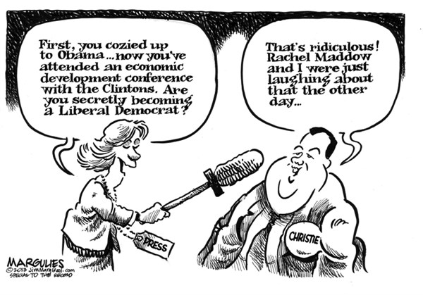 Jimmy Margulies - The Record of Hackensack, NJ - Christie and Clintons - English - Governor Christie, Chris Christie, Christie for President 2016, Bipartisanship Christie and Obama, Christie and Bill Clinton