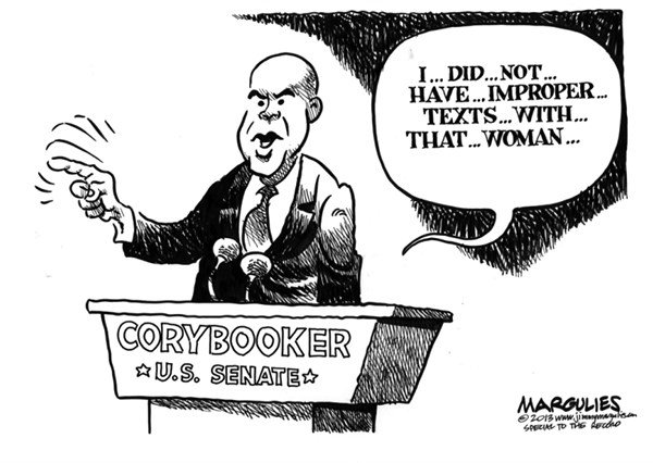 Jimmy Margulies - The Record of Hackensack, NJ - Cory Booker Twitter with stripper - English - Cory Booker, Cory Booker for US Senate, Twitter, NJ US Senate race, Twitter followers of Cory Booker