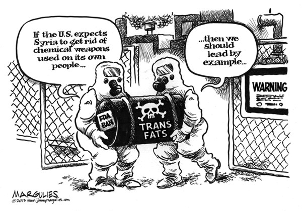 Jimmy Margulies - The Record of Hackensack, NJ - Trans Fat ban - English - Trans Fats, FDA, nutrition, diet, obesity, junk food, fast food, cholesterol,heart disease, strokes