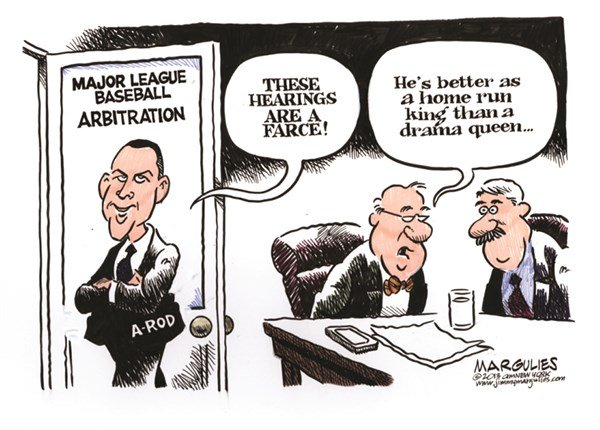 Jimmy Margulies - The Record of Hackensack, NJ - A-Rod arbitration hearings color - English - A-Rod, Alex Rodriguez, A-Rod arbitration hearings, steroids, performance enhancing drugs