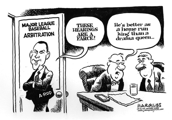 Jimmy Margulies - The Record of Hackensack, NJ - A-Rod arbitration hearings  - English - A-Rod, Alex Rodriguez, A-Rod arbitration hearings, steroids, performance enhancing drugs