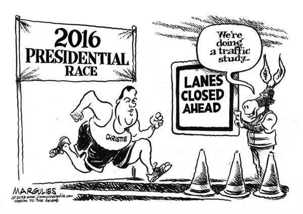 Jimmy Margulies - The Record of Hackensack, NJ - Christie bridge lane closings - English - Christie for President, Governor Christie, Chris Christie, Christie Bridge Lane closings