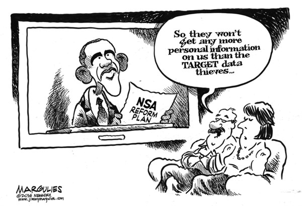 Jimmy Margulies - The Record of Hackensack, NJ - Obama NSA reform - English - Obama NSA reform, NSA wiretapping, NSA spying, NSA eavesdropping