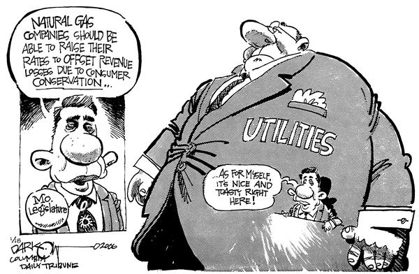 John Darkow - Columbia Daily Tribune, Missouri - MO Natural Gas Co - English - Utilities Natural Gas Missouri