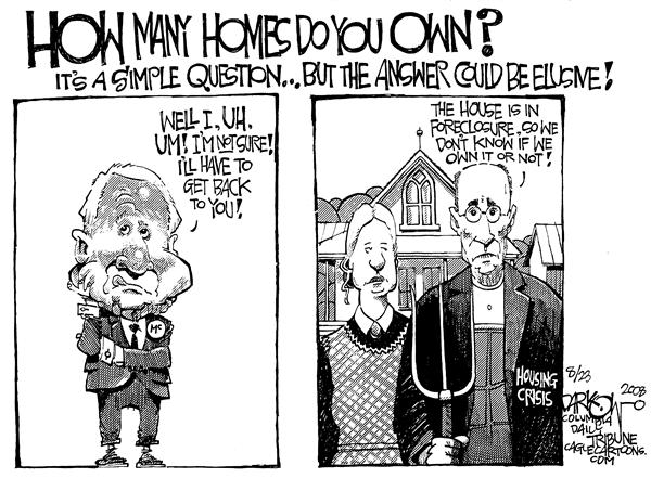 McMansions © John Darkow,Columbia Daily Tribune, Missouri,John McCain, Presidential Election 2008, McMansions, houses, homes