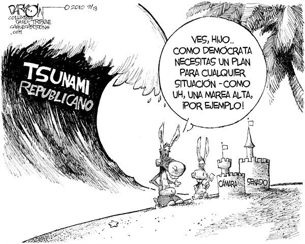 John Darkow - Columbia Daily Tribune, Missouri - Ola de Elecciones - Spanish -