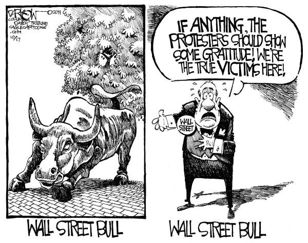 99427 600 Wall Street Bull cartoons
