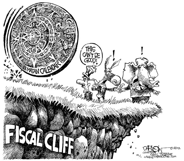 123239 600 Fiscal Cliff Meets Mayan Calendar cartoons