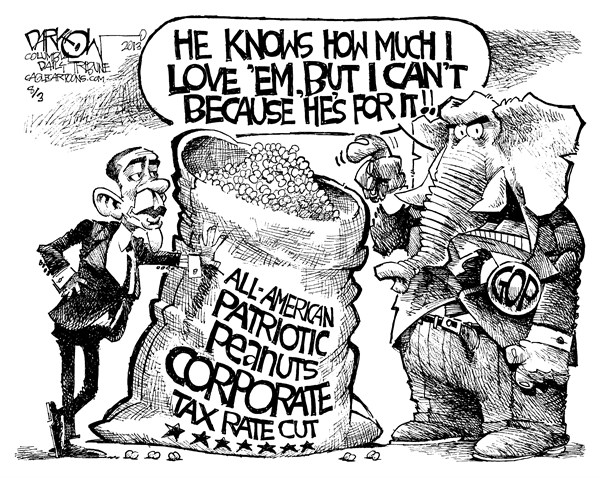135487 600 Corporate Tax Rate Cut cartoons