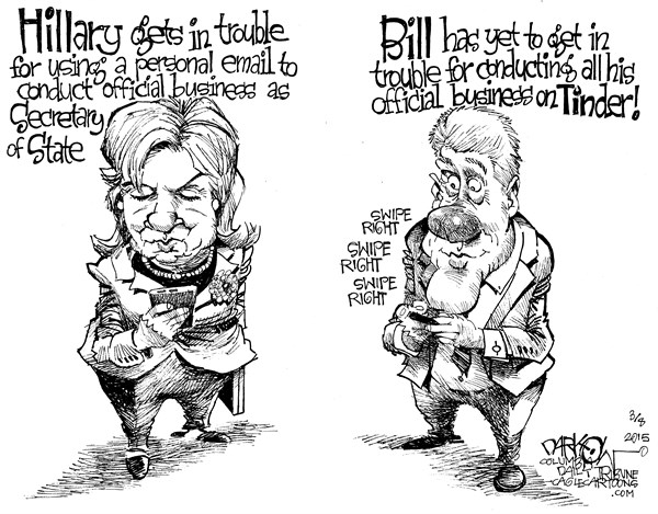 Hillary's Email © John Darkow,Columbia Daily Tribune, Missouri,Hillary Clinton, Private Email Account, Secretary Of State