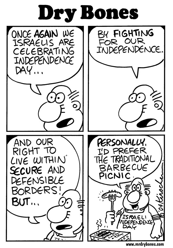 Yaakov Kirschen - Dry Bones - Israel Day - English - israel, yom atzmaout, israel, independence day, barbecue, picnic, Jews,