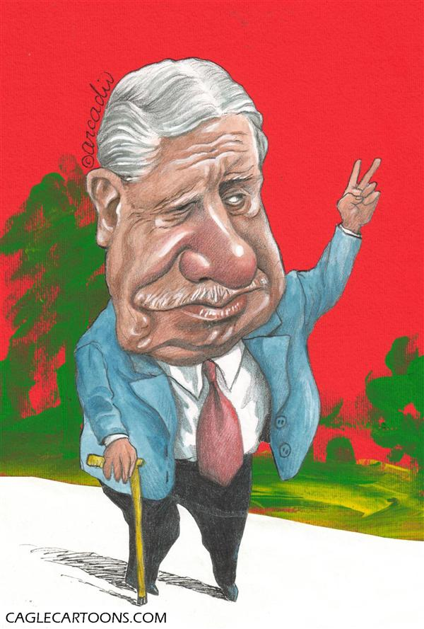 Arcadio Esquivel - La Prensa, Panama, www.caglecartoons.com - Augusto Pinochet - Caricature - COLOR - English - Pinochet, augusto, caricature, chile