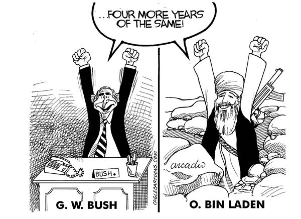 8543 600 Euphoric Bush and Osama cartoons