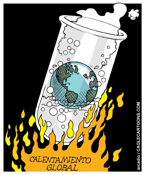 Arcadio Esquivel - La Prensa, Panama, www.caglecartoons.com -  - Spanish - Calentamiento global mundo