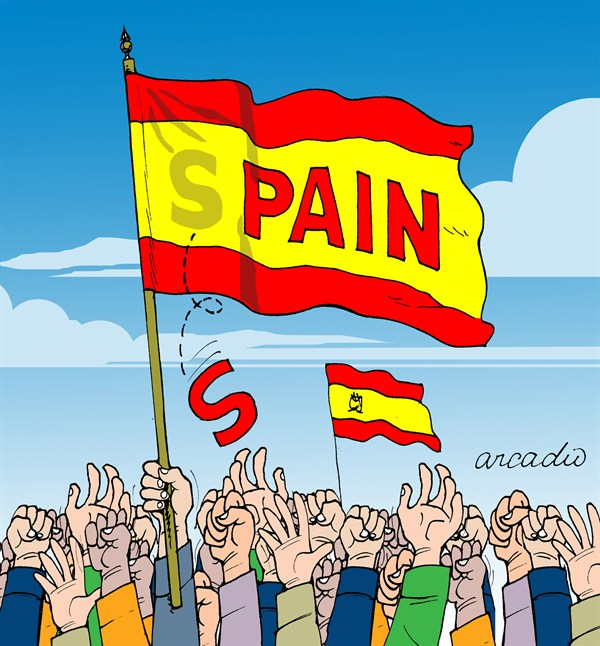 95109 600 Spain and Pain cartoons