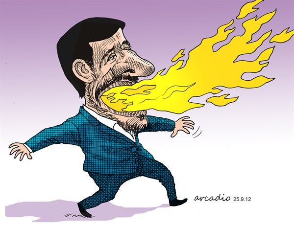 119297 600 Flaming Ahmadinejad cartoons