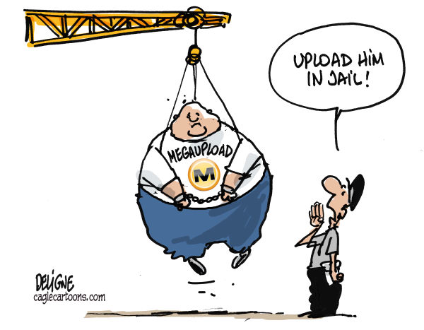 Frederick Deligne - Nice-Matin, France - Megaupload banned - English - megaupload, internet,piracy,sopa,kim,dotcom,site,download,pirate