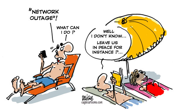 Frederick Deligne - Nice-Matin, France - Network Outage - English - phone, outage, failure, network, bug, communication