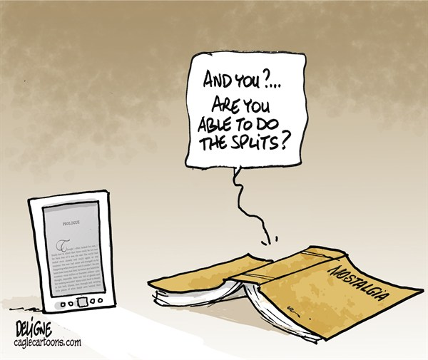 122486 600 Book vs e Book reader cartoons