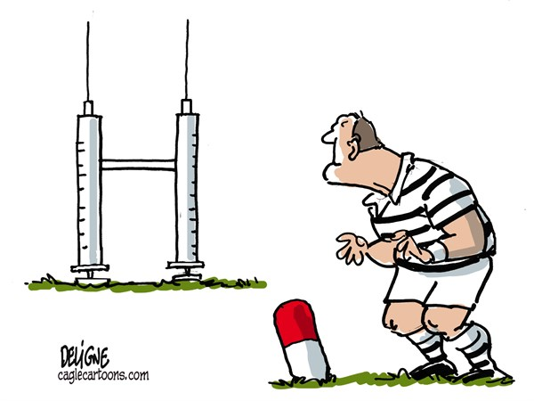 Rugby and doping © Frederick Deligne,Nice-Matin, France,rugby,sport,drugs,doping,cheat,