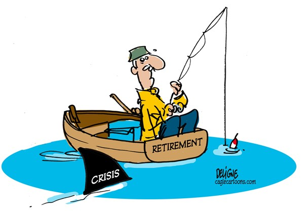 Frederick Deligne - Nice-Matin, France - Crisis and retirement - English - crisis,retirement, money,pension,old