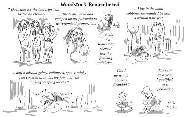 Nik Scott - Australia - Woodstock Remembered - English - woodstock, love, peace, dope, man