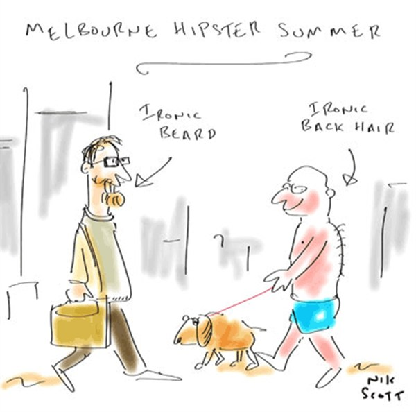 126165 600 Melbourne Hipster Summer cartoons