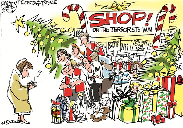 43712 600 Xmas Shopping cartoons