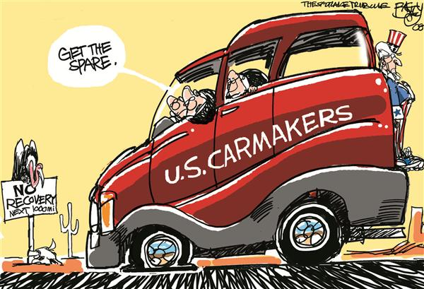 57588 600 Big Three Carmakers cartoons