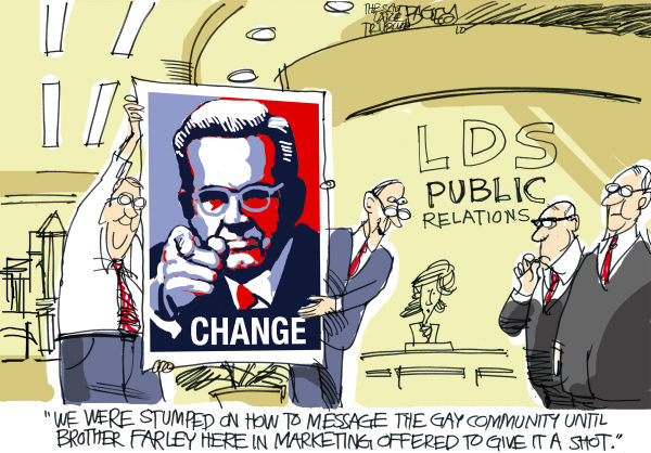 Pat Bagley - Salt Lake Tribune - Gays Can Change - English - Gays, GLBT, Gay, LDS, Sex, Sexuality, Change, Salt Lake, Mormons, Prop 8, Boyd K Packer