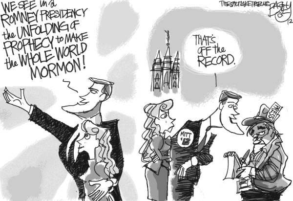 Pat Bagley - Salt Lake Tribune - The Mormon Moment - English - Mormons, Mitt, LDS, Latter-day Saints, Church, Romney, Religion, Mormon, Salt Lake, Temple, Press