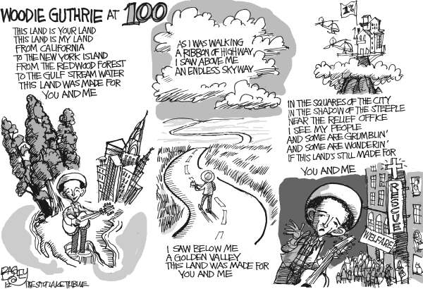 115037 600 Woodie Guthrie at 100 cartoons