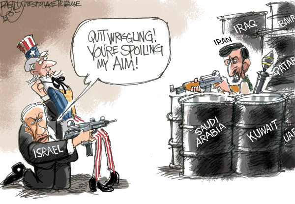 Pat Bagley - Salt Lake Tribune - Plan to Attack Iran - English - Iran, Israel, Uncle Sam, United States, Strike, Nuclear, Atomic, Weapons, WMD, Netanyahu, Bibi, Ahmadinejad, Khameini, Attack