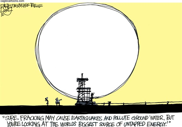 Pat Bagley - Salt Lake Tribune - Bright Idea - English - Solar, Gas, Oil, Fracking, Sun, Power, Fossil Fuels, Alternative Energy, Solar Panels