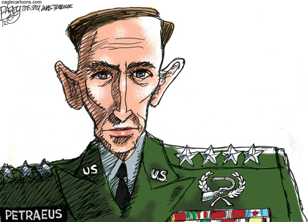 Pat Bagley - Salt Lake Tribune - The Petraeus Affair  - English - Petraeus, Broadwell, Paula Broadwell, Affair, Holly Petraeus, Afghanistan, All In, Biography, Jill Kelley, FBI, CIA, Senate, Intelligence
