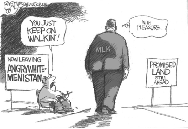 Pat Bagley - Salt Lake Tribune - The Dream Continued - English - MLK, Martin Luther King, Promised Land, Dream, I Have a Dream