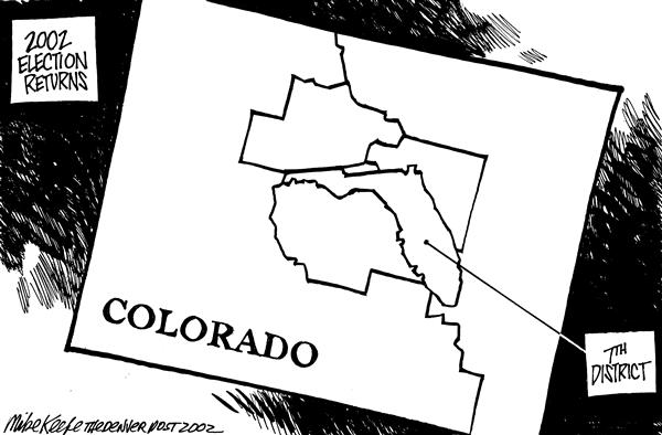 Mike Keefe - Cagle Cartoons - Colorado 7th District - English - Colorado, 7th District, Election