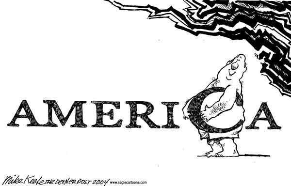 Mike Keefe - Cagle Cartoons - Obesity in America - English - Obesity Fast Food Fat America