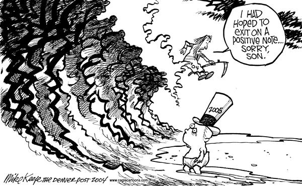 Mike Keefe - Cagle Cartoons - Tsunami - English - Tsunami Tidal Wave Indonesia