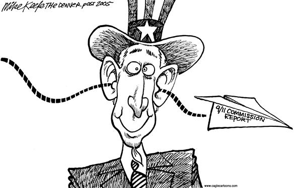 Mike Keefe - Cagle Cartoons - 9/11 Commission - English - 9/11 commission terrorism security