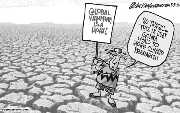 Mike Keefe - Cagle Cartoons - Drought - English - drought; global; warming; climate; change; research; hoax; denier
