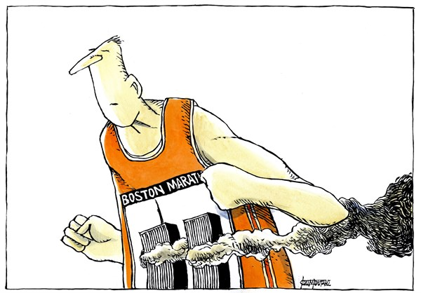 130349 600 Terror in Boston Marathon cartoons