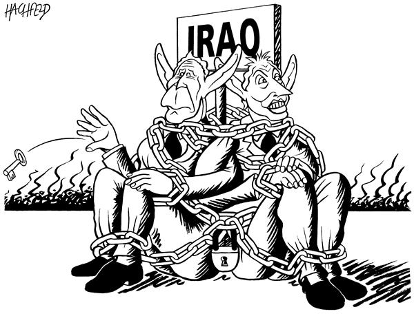 Rainer Hachfeld - Neues Deutschland, Germany - Bush and Blair in Iraq - English - Iraq Bush Blair