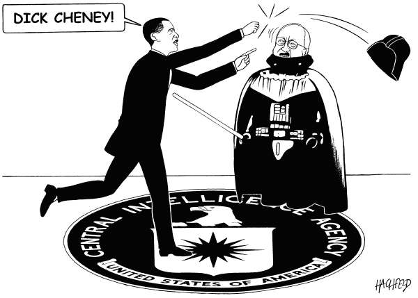 Rainer Hachfeld - Neues Deutschland, Germany - Obama, Cheney, CIA - English - Barack Obama, Dick Cheney