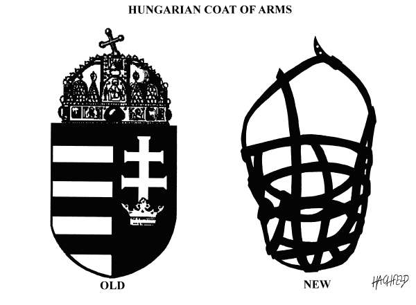 Rainer Hachfeld - Neues Deutschland, Germany - Hungarian Coat of Arms - English - HUNGARIAN COAT OF ARMS, MUZZLE